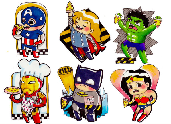 heroes stickers