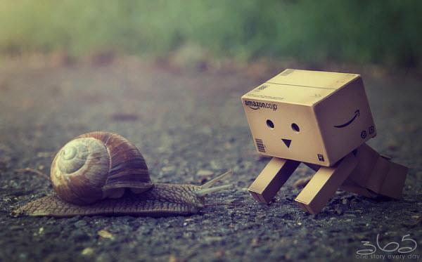 oh a snail