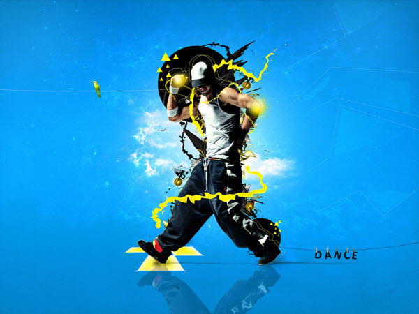 create stylish dancer photo manipulation