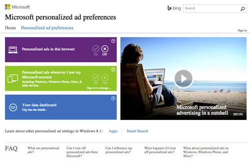 Microsoft Personalized ad
