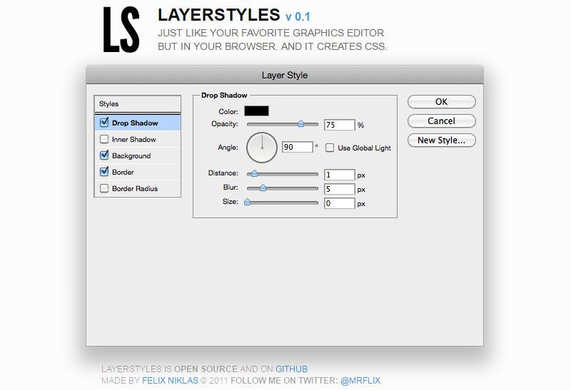 LayerStyles web app