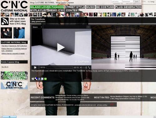 horizontal scrolling website