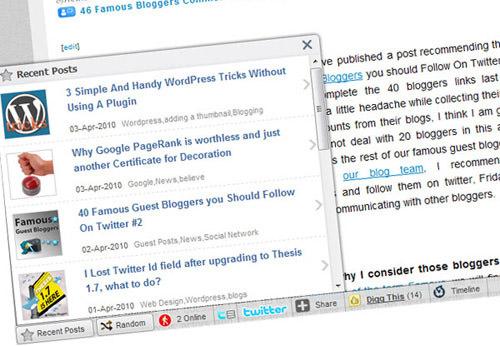 social media integration toolbar