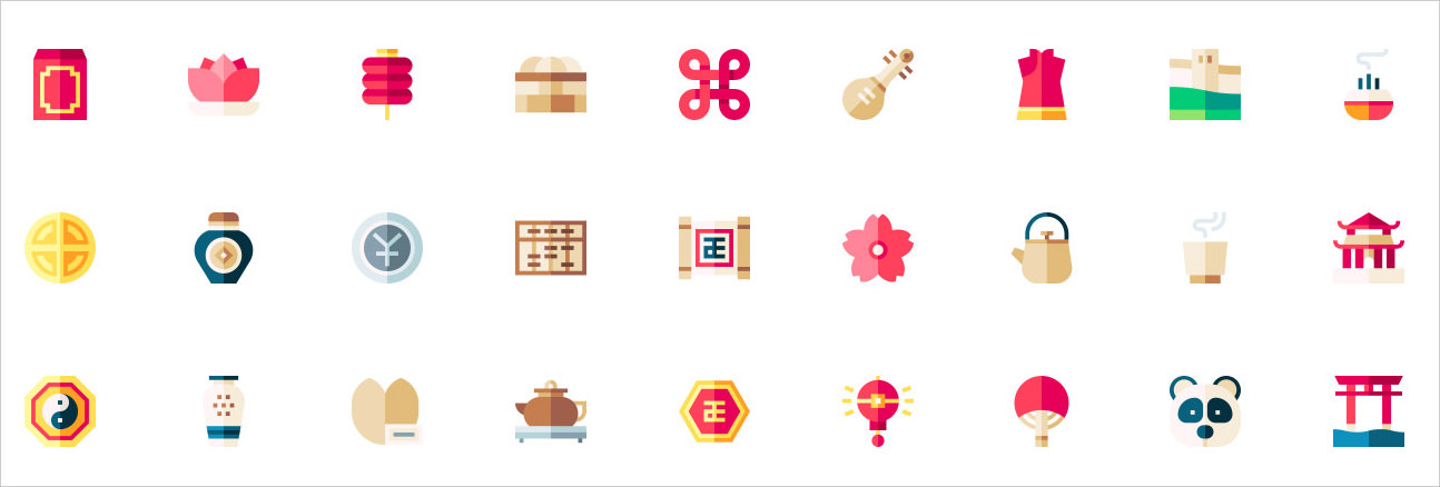lunar new year icons