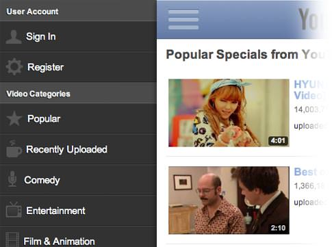 toogle youtube toolbar