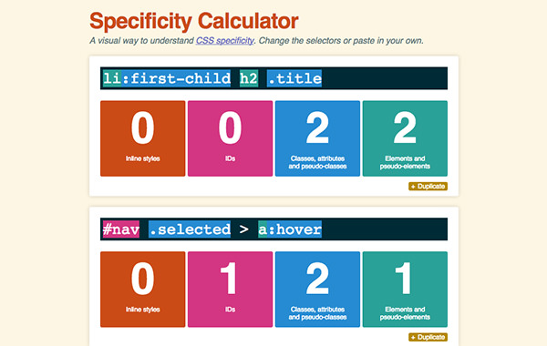 CSS Specificity