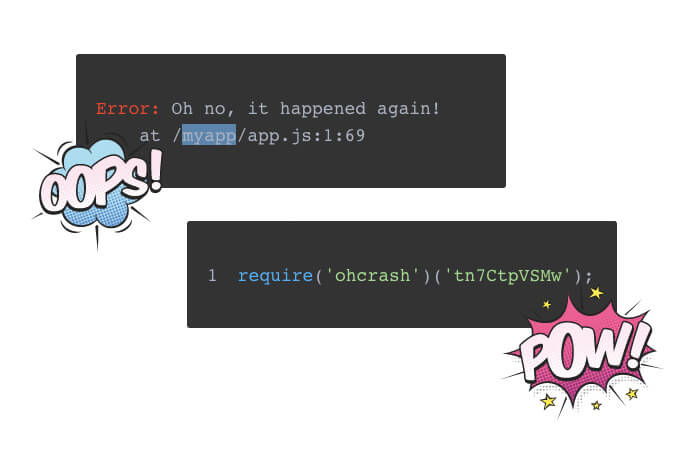 Image of OhCrash! Error Report Example.