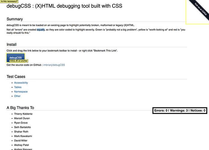 Debug CSS