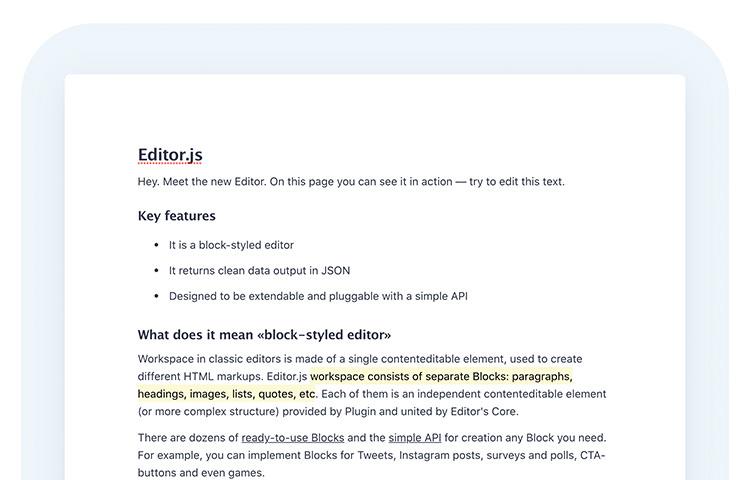 EditorJS