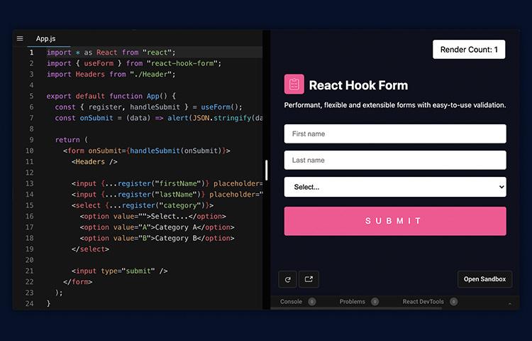 react-hook-form
