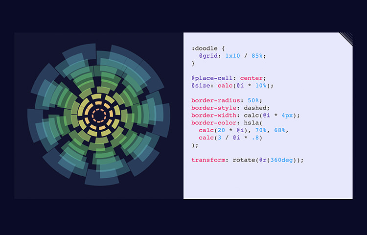 Circular graph and the example of CSS Doodle code