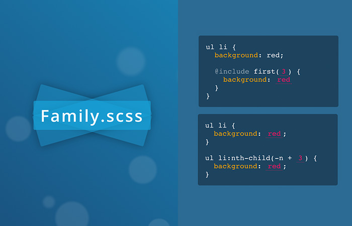 Family SCSS Logo and Code Snippet