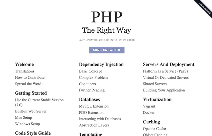 PHP The Right Way Homepage
