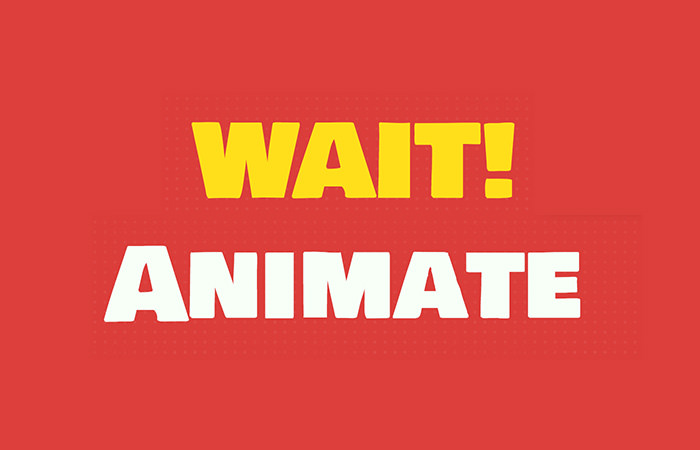 WaitAnimate Homepage