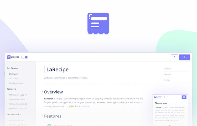 LaRecipe Logo and UI
