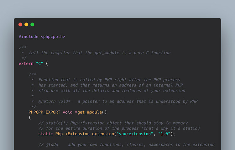 PHP CPP code example