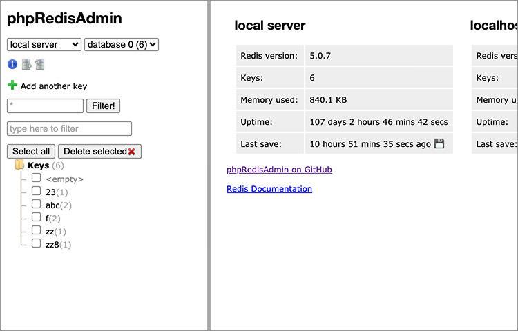 PHP Redis Admin interface