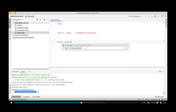 ReactPHP Video Course