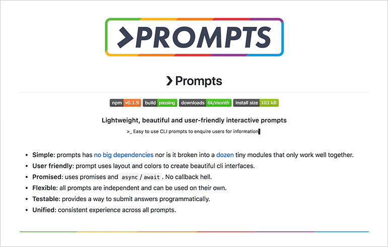 Prompts-npm-package
