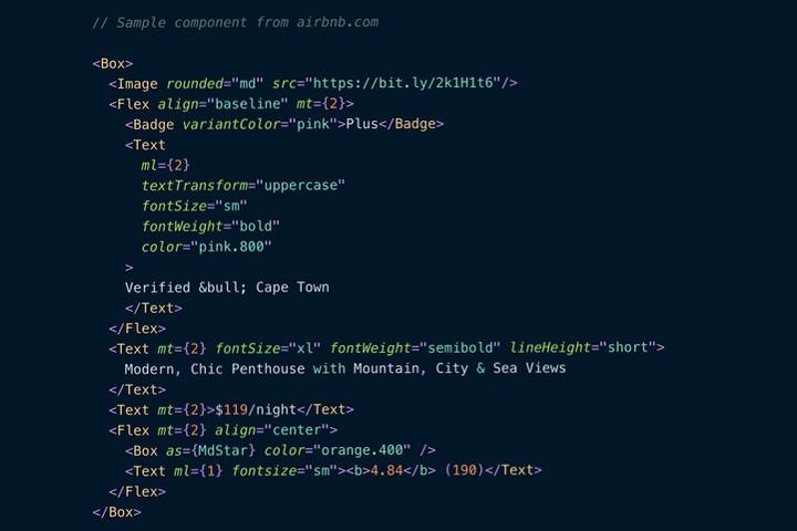 Chakra UI code example of creating a box