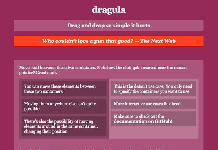 Dragula homepage