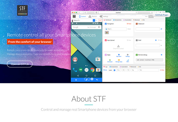 Open STF Homepage