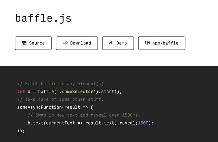 Baffel.js homepage