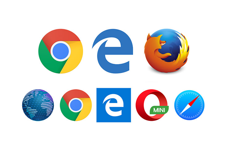 A few logo of popular browsers