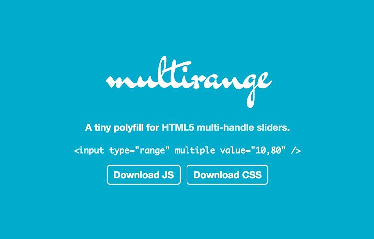 Multi-range logo in the homepage