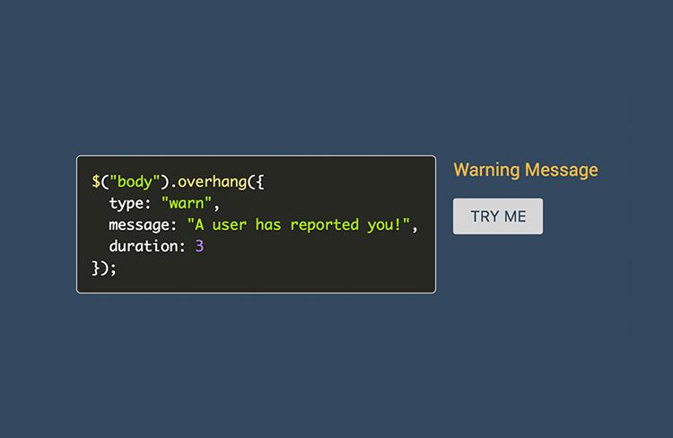 OverHang code snippet