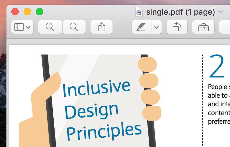 Inclusive Design Principle