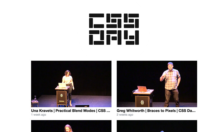 CSS Day video list