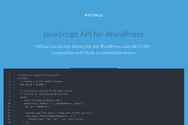 WordPress.com API
