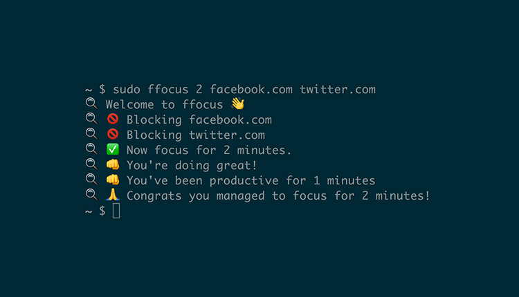 Focus Report in macOS Terminal