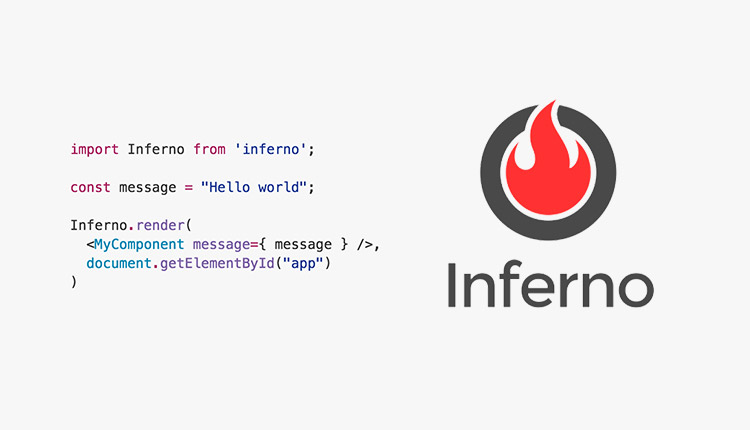 Inferno flame logo, and a code snippet.