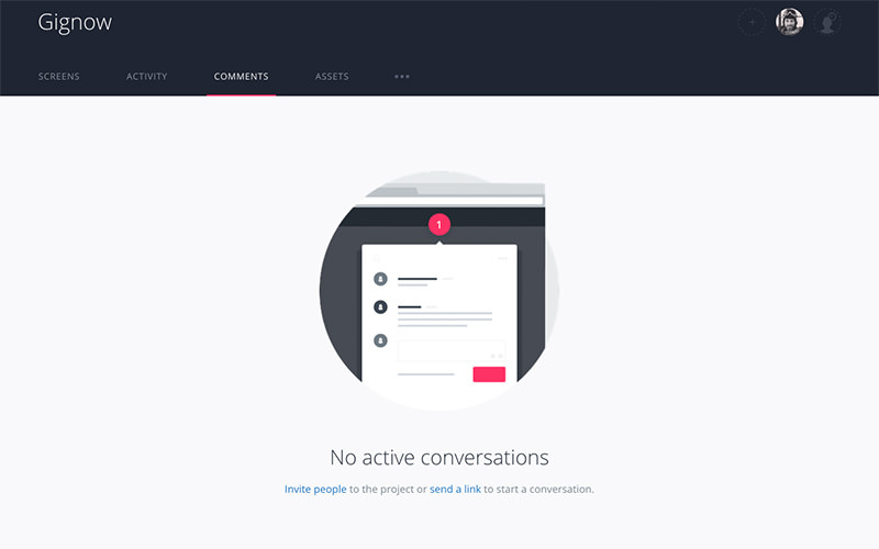 invision app dashboard