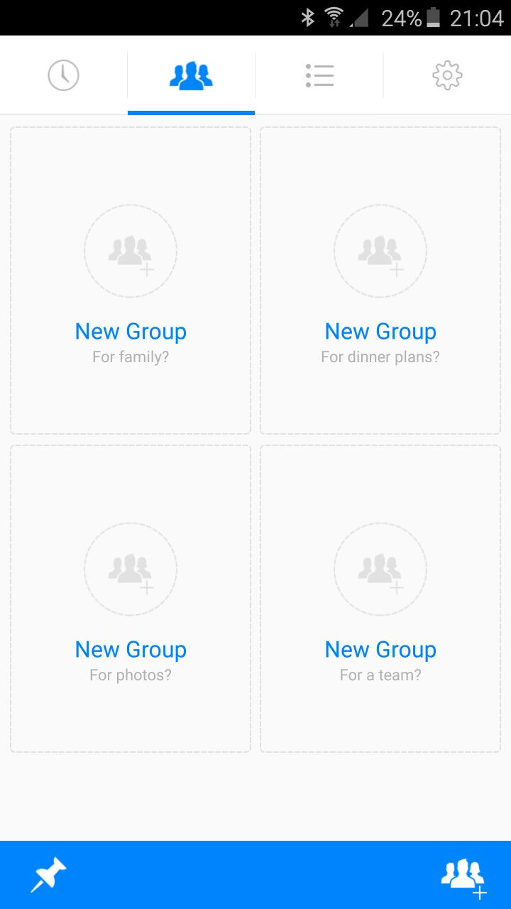 no pinned groups homepage