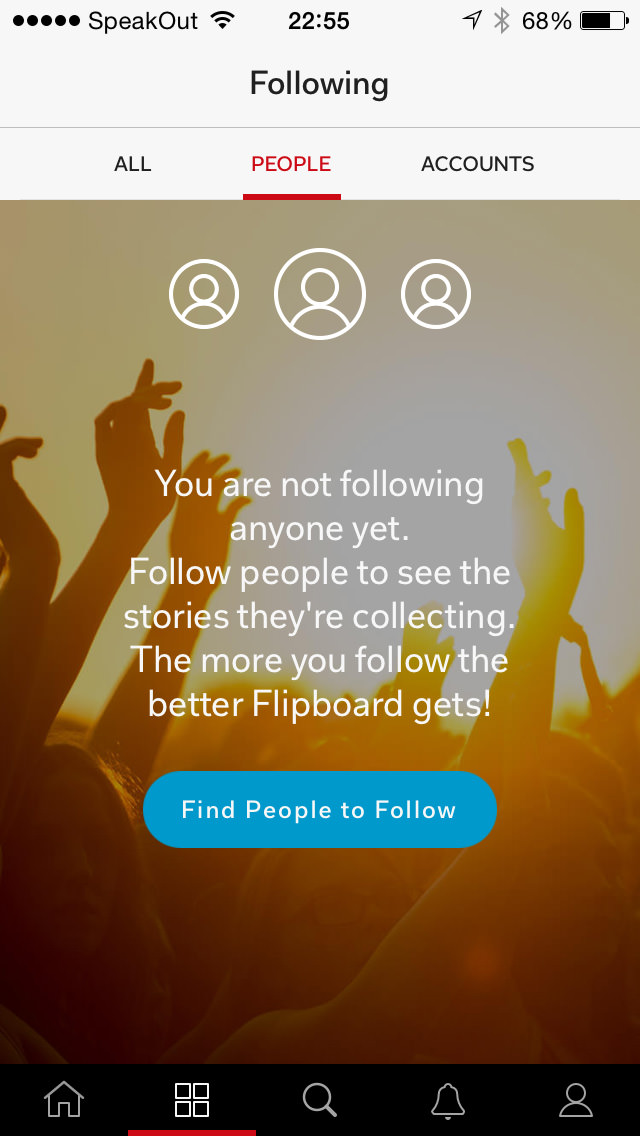 flipboard not following anyone