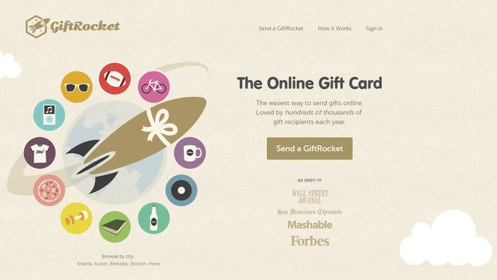 Giftrocket Website