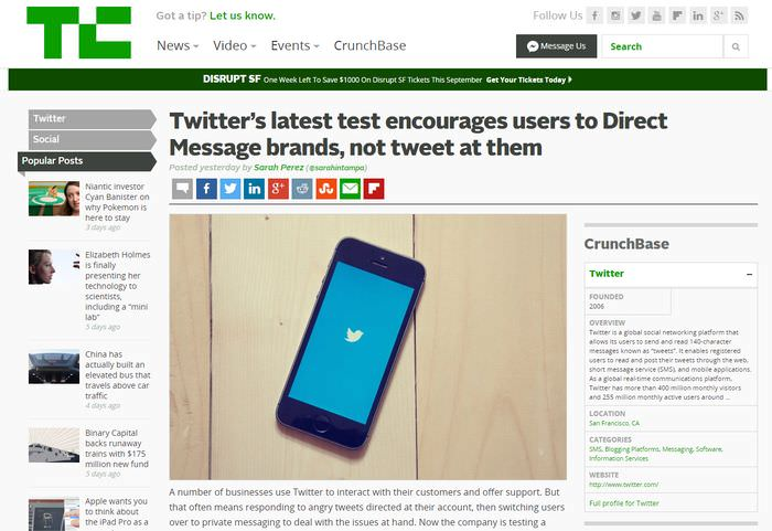 TechCrunch Post Page