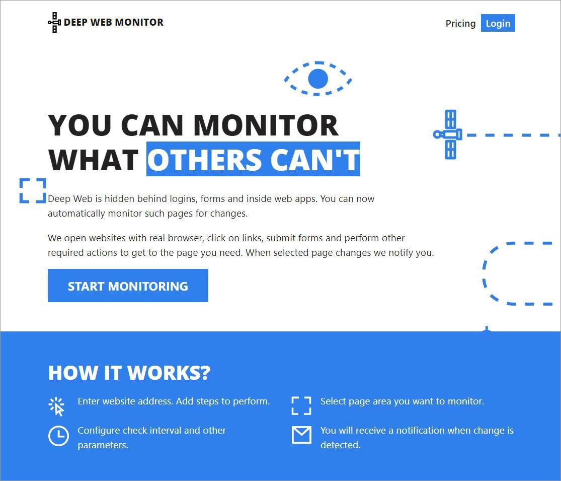 DeepWebMonitor is a change monitoring tool