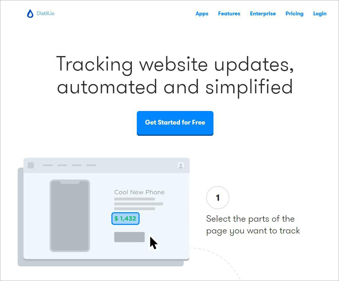 Distill.io allows monitoring web page changes