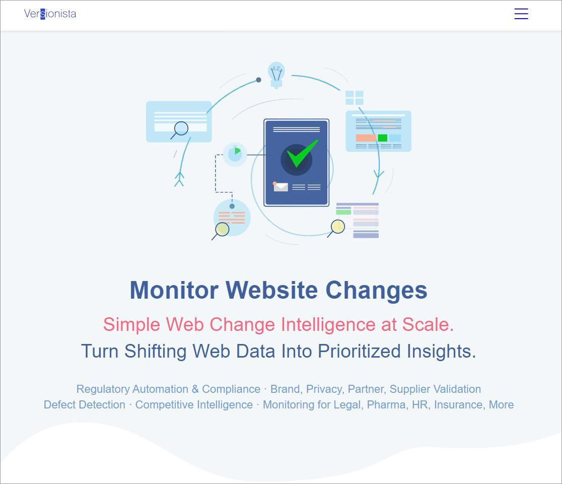 Versionista is a simple tool for monitoring web pages