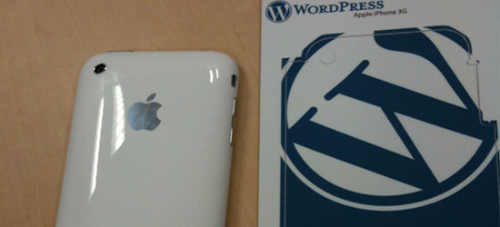 iPhone 3GS and WordPress Branding