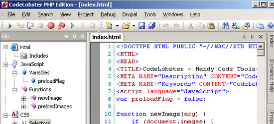 CodeLobster PHP IDE