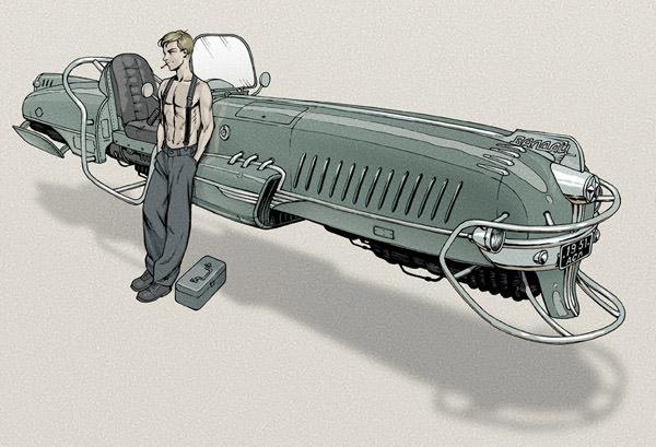Dieselpunk Hovercraft by Lipatov