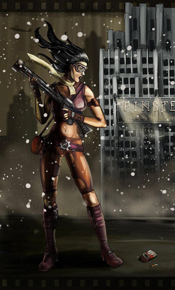 Dieselpunk Girl by Vadich
