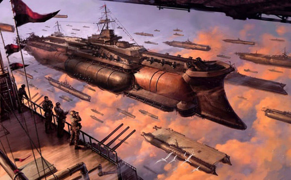Dieselpunk Airships by Tome Wilson