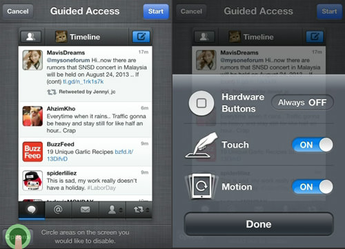 more options guided access