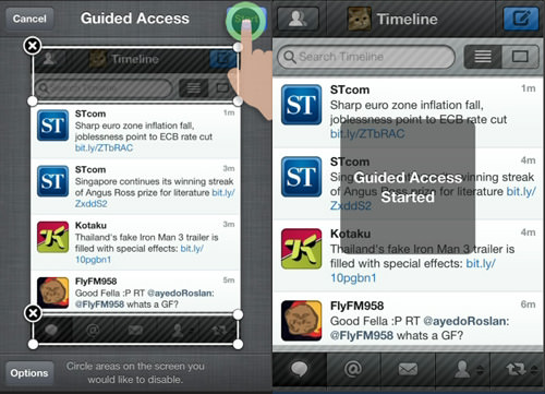 start guided access